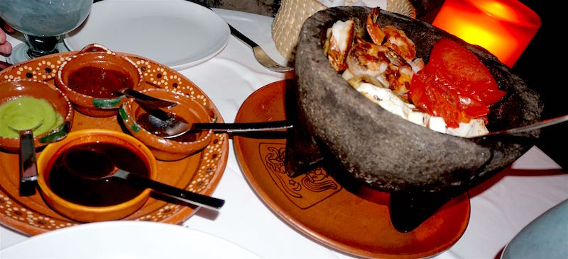 Belmond Maroma El Restaurante shrimp entree image