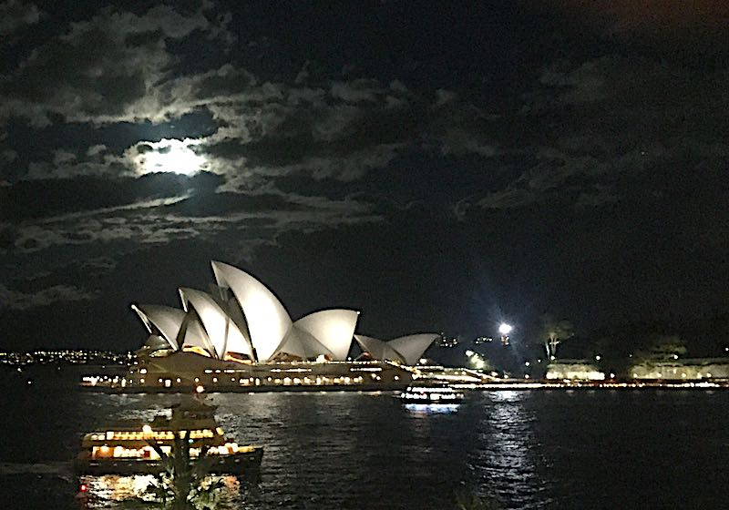 Full moon over Sydney Opera House image