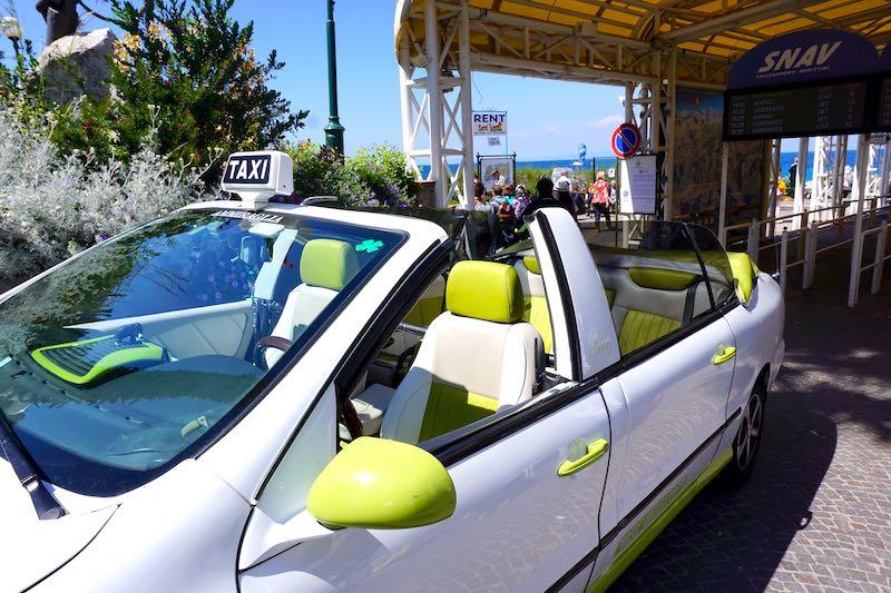 Capri open-air taxi image