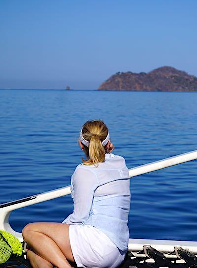 Cara Goldsbury Costa Rica catamaran sail image