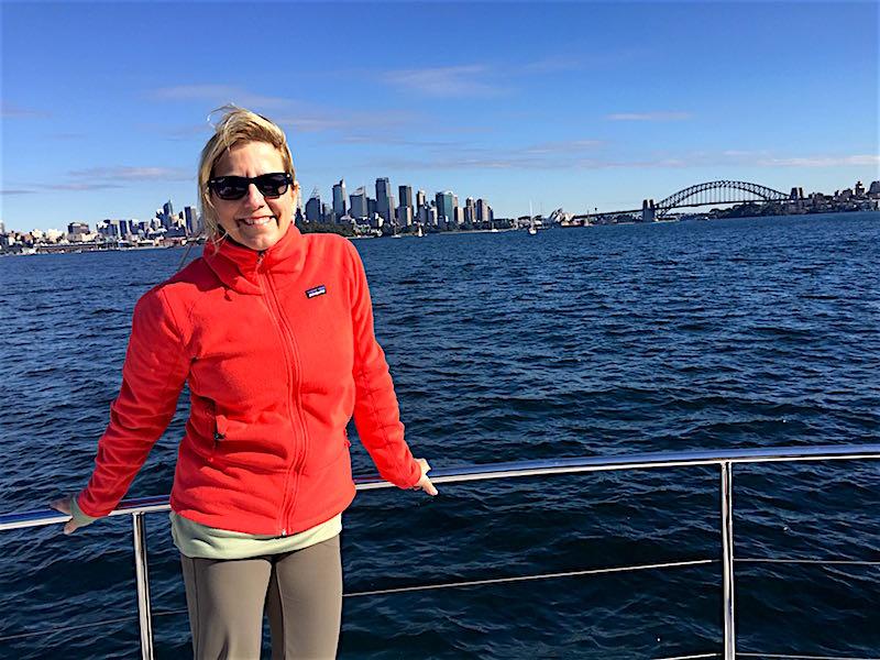 Cara Goldsbury Sydney harbour cruise image