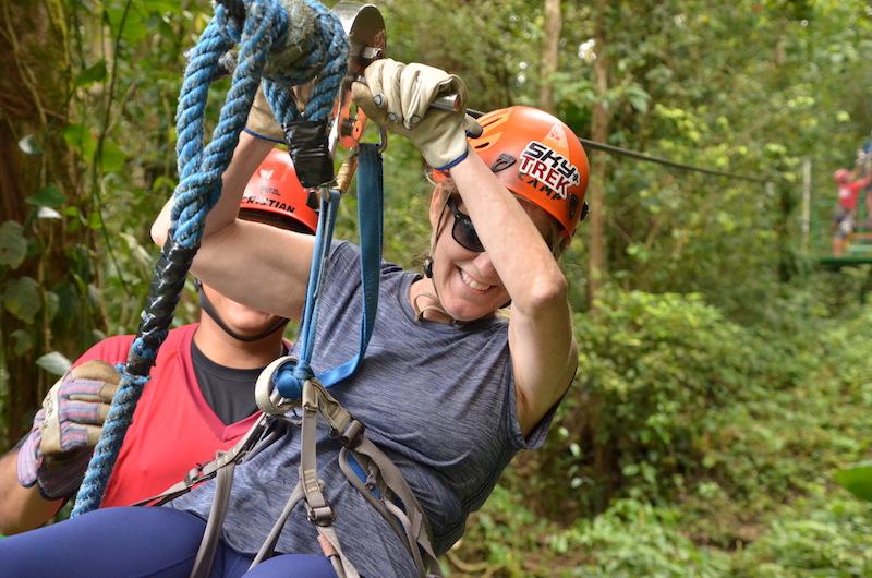 Cara Goldsbury Costa Rica zip line image