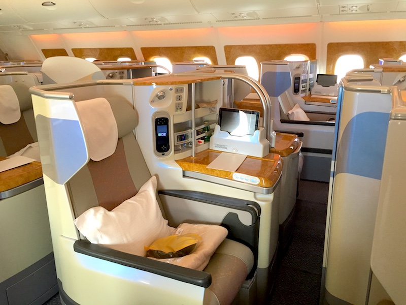 Emirates airline business class image
