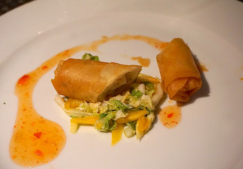 Seabourn Encore The Colonnade shrimp spring roll image