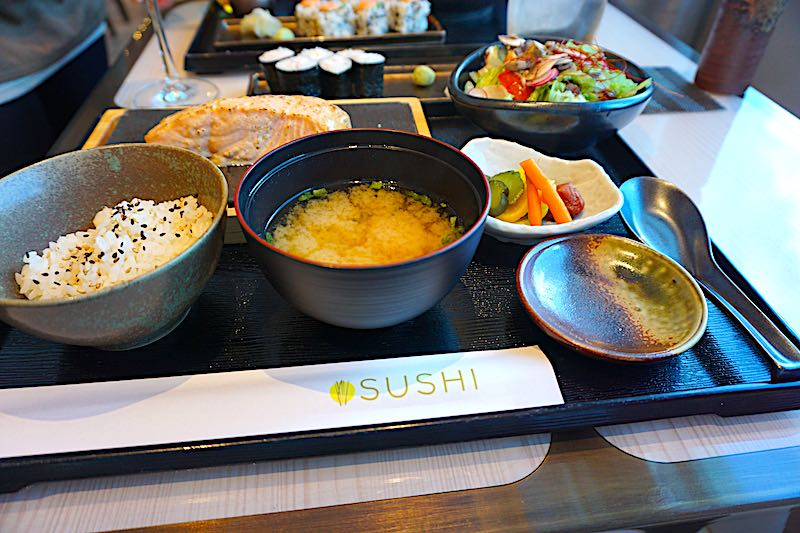 Seabourn Encore Sushi miso salmon image