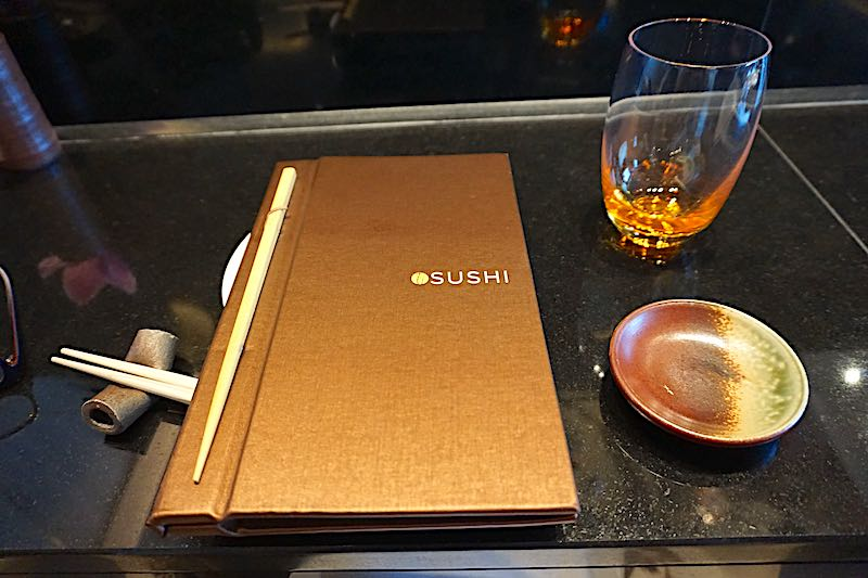 Seabourn Encore Sushi menu image