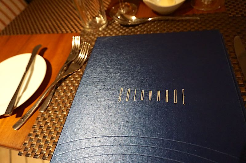 Seabourn Encore The Colonnade menu image