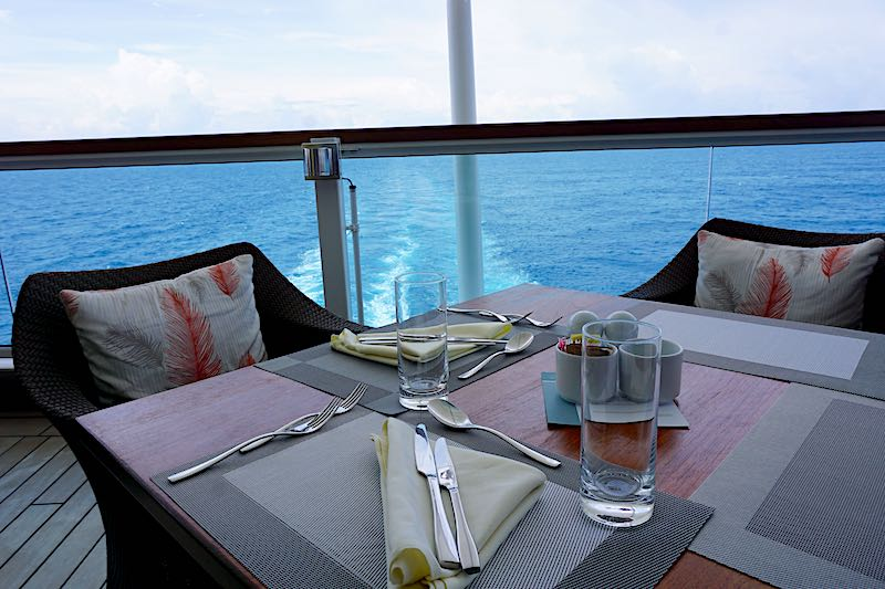Seabourn Encore The Colonnade table view image