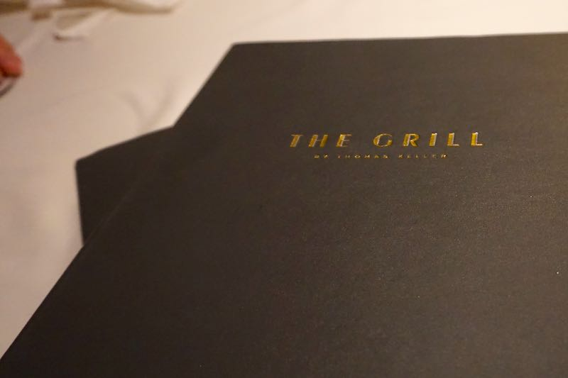 Seabourn Encore The Grill by Thomas Keller menu image
