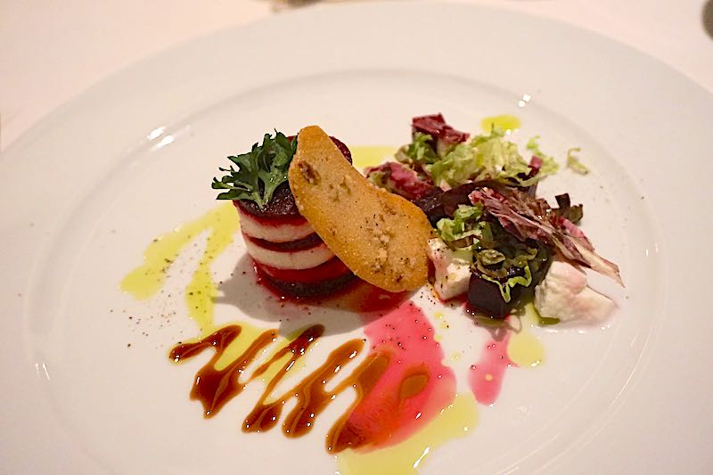 Seabourn Encore The Restaurant beets and mozzarella image