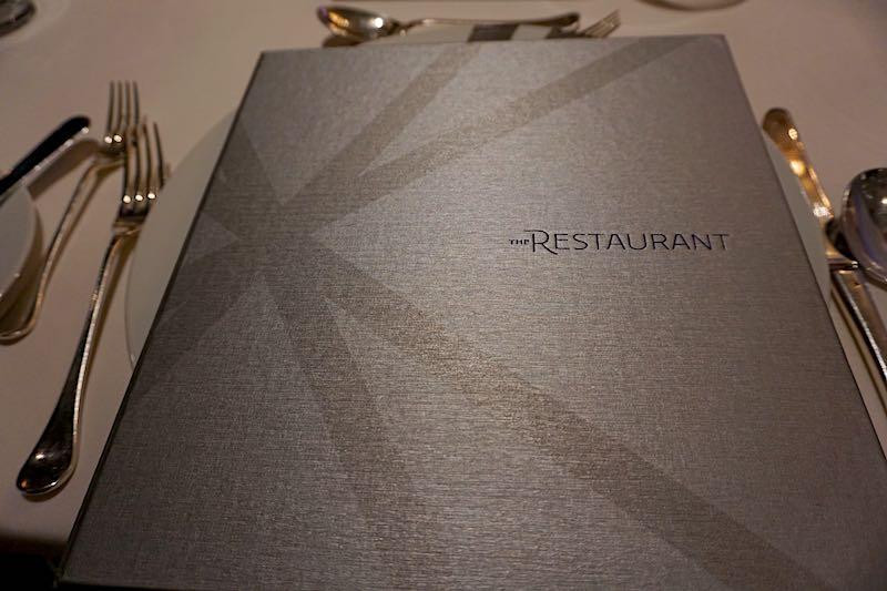 Seabourn Encore The Restaurant menu image