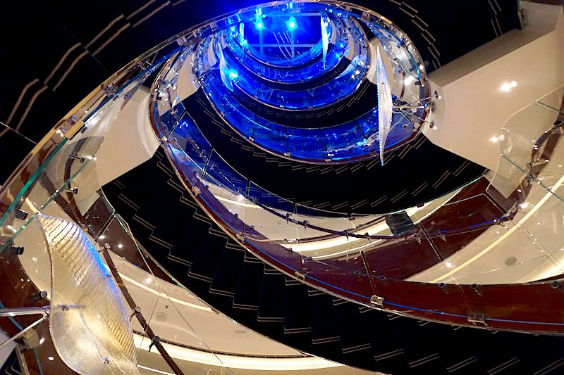 Seabourn Encore staircase image