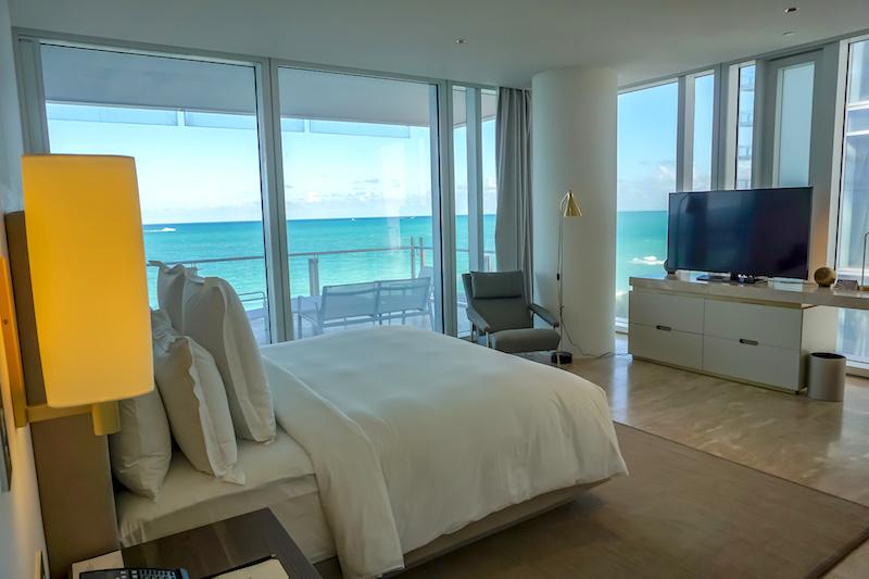 Four Seasons, The Surf Club 2-bedroom Oceanfront Suite master bedroom