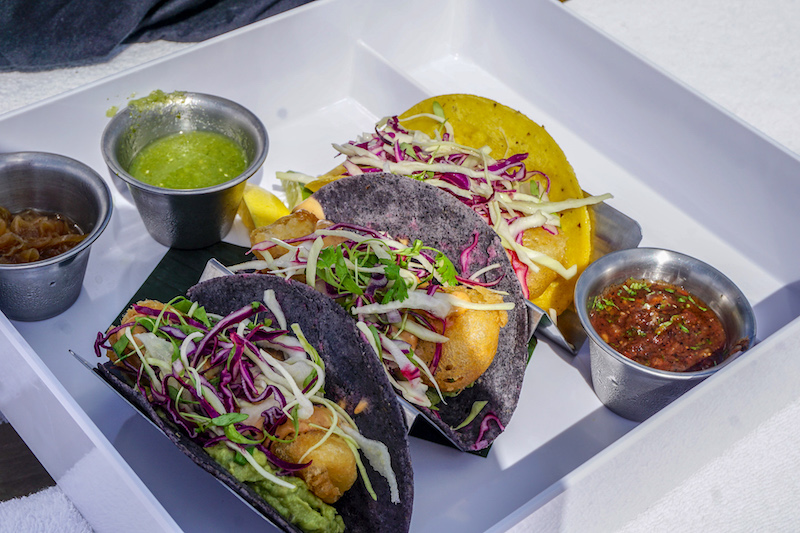 Four Seasons, The Surf Club pool grill fish tacos image