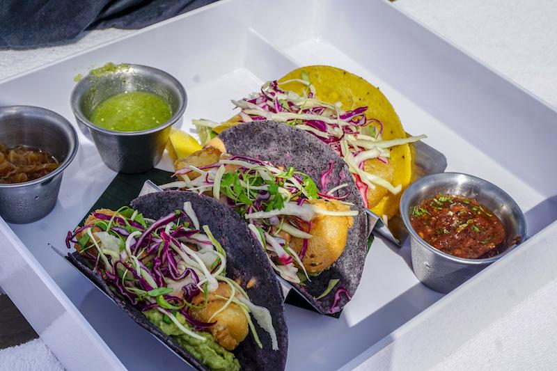 Four Seasons, The Surf Club pool grill fish tacos image