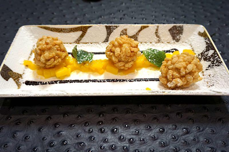 Silver Muse Kaiseki tempura ice cream image