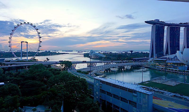 Mandarin Oriental Singapore sunrise view image