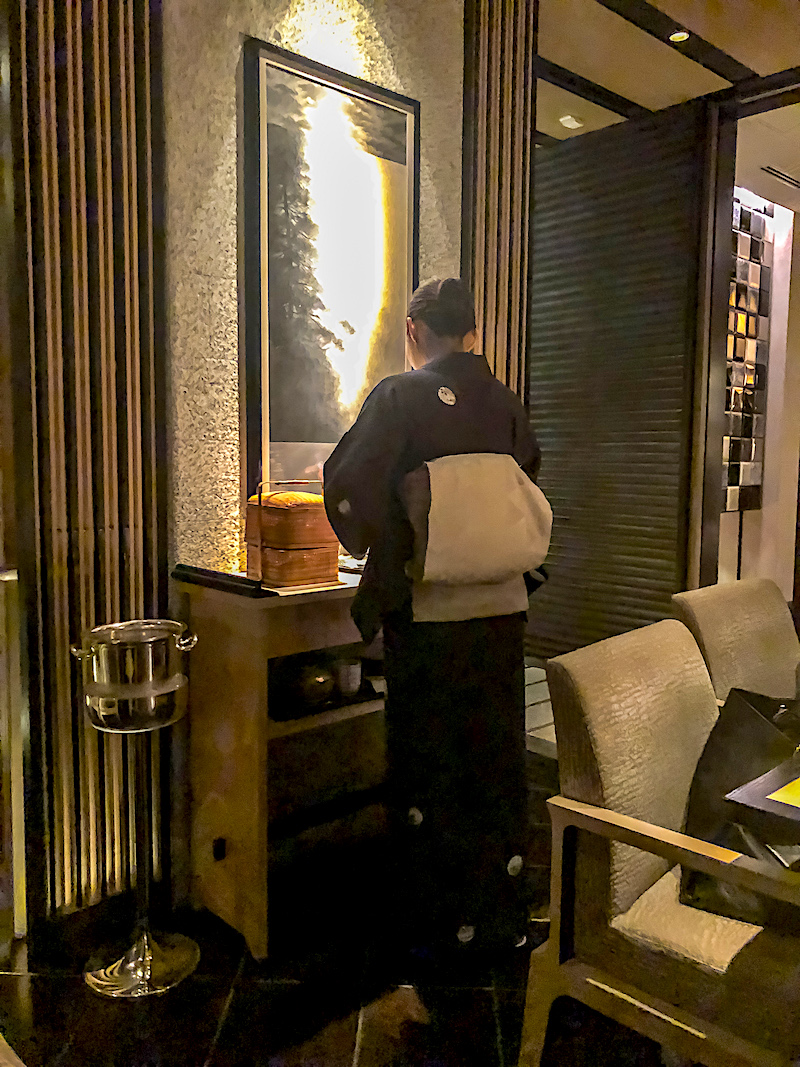 Ritz Carlton Tokyo kaiseki hostess image