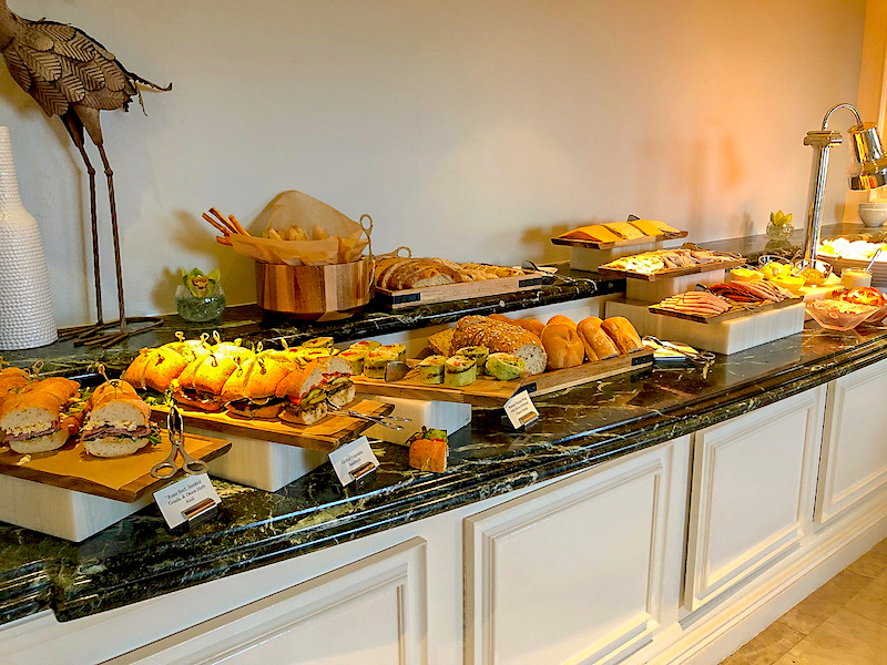 Ritz Carlton Orlando Concierge Club lounge lunch image