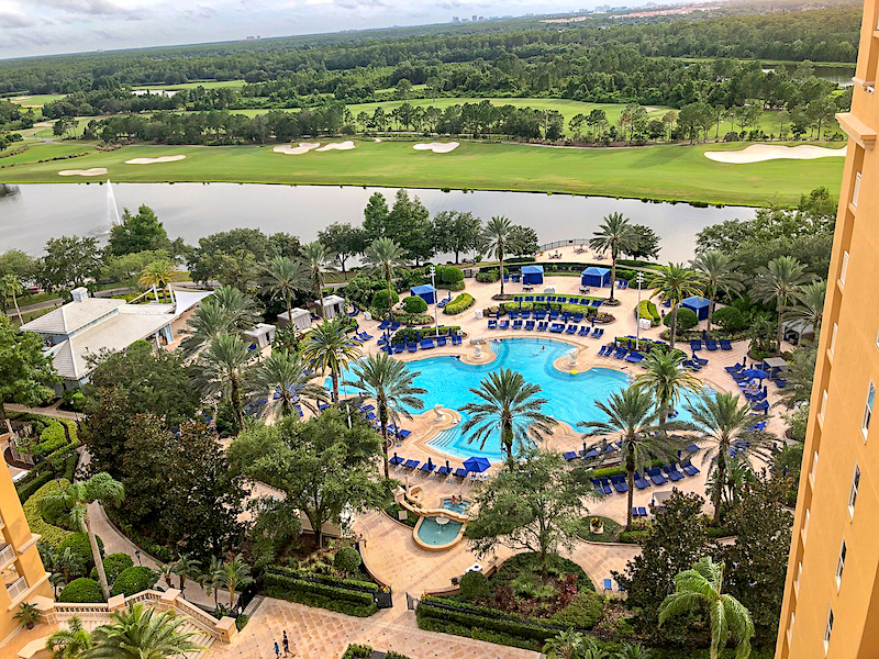 Ritz Carlton Orlando Concierge Club lounge view image
