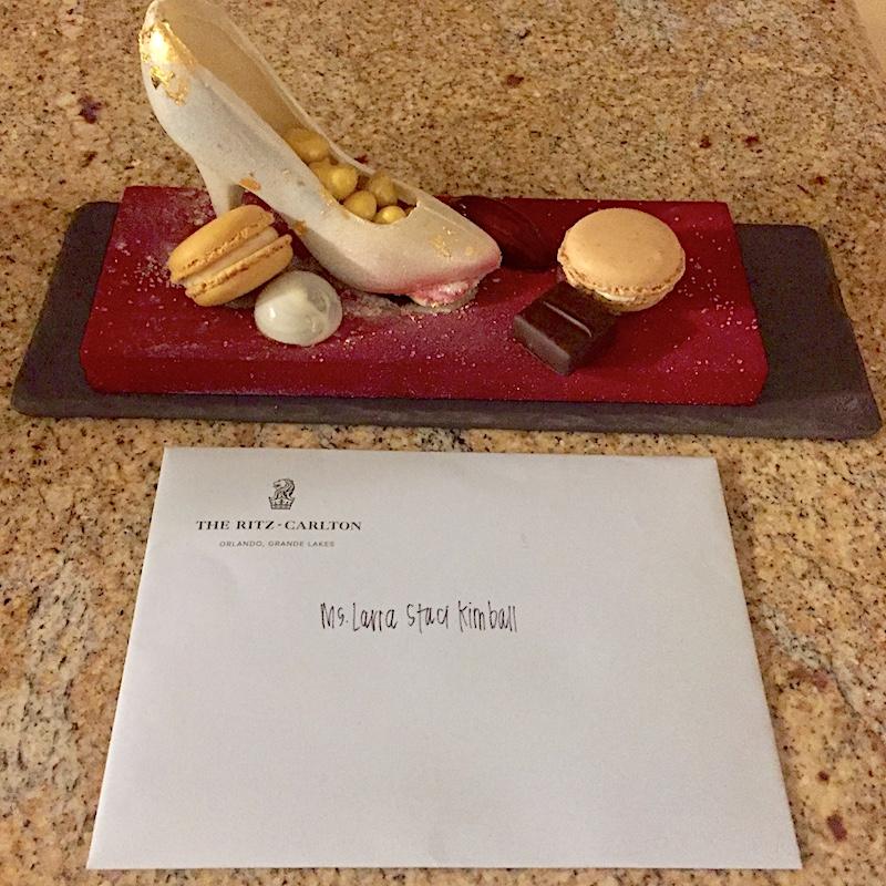 Ritz Carlton Orlando welcome amenity