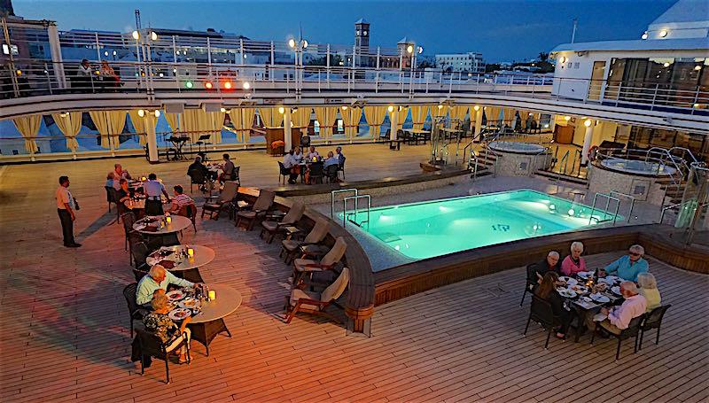 Silversea Silver Spirit dinner on deck image