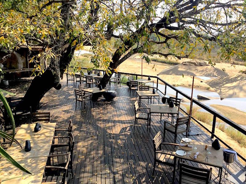 Singita Boulders outdoor dining terrace image