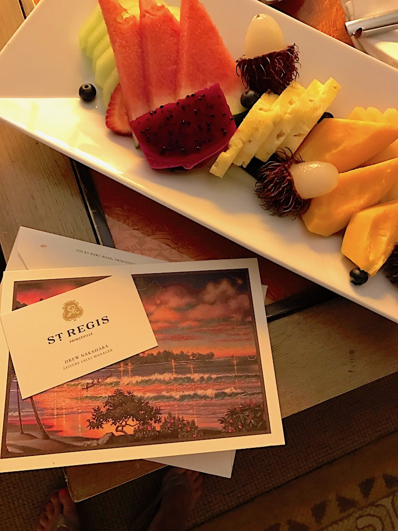 St Regis Princeville welcome amenity image