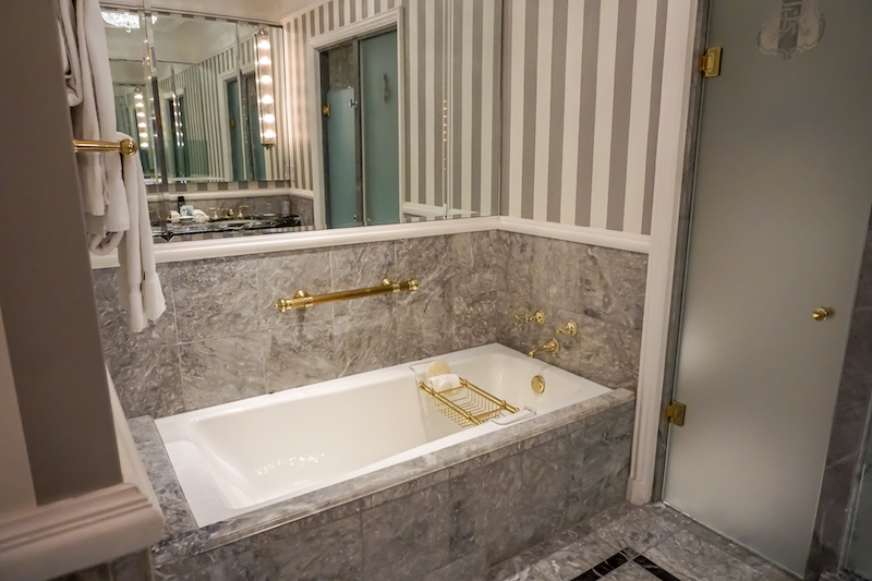 St Regis New York Grand Luxe guest room bath image