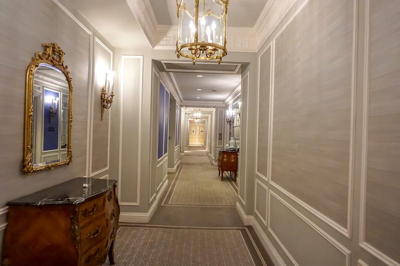 St Regis New York Grand Luxe guest room hallway image