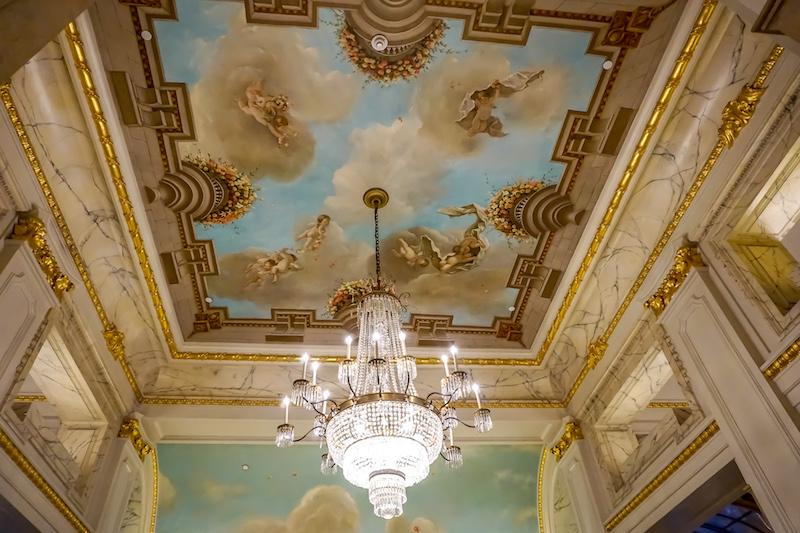 St Regis New York lobby mural image
