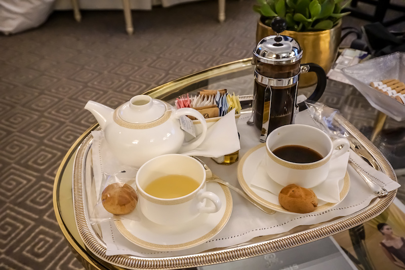 St Regis New York Grand Luxe morning coffee and tea image