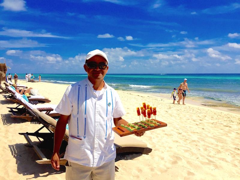 Viceroy Riviera Maya beach attendant