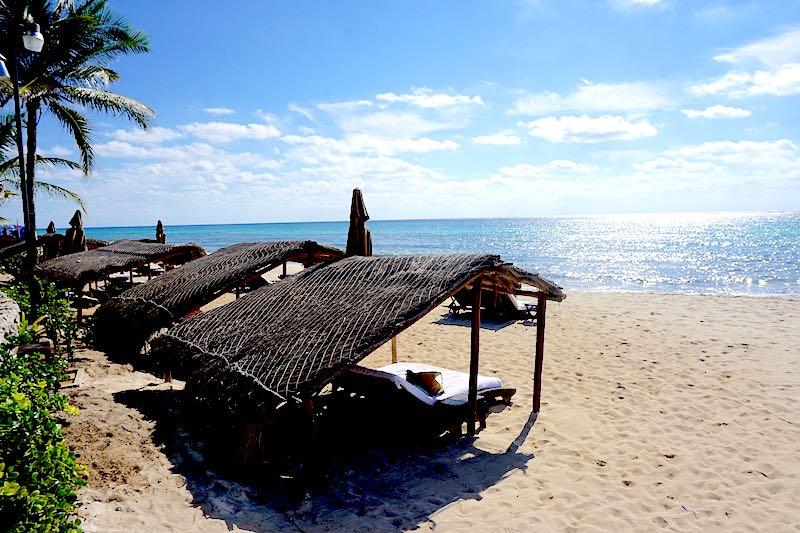 Viceroy Riviera Maya beach palapa image