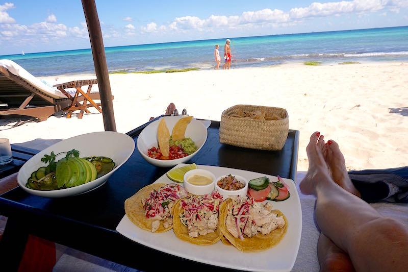 Viceroy Riviera Maya lunch on beach image