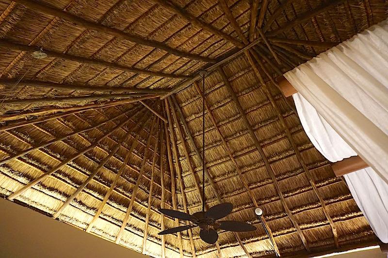 Viceroy Riviera Maya thatch bedroom ceiling image