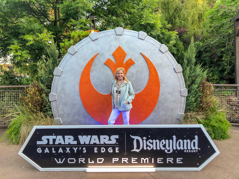 Cara Goldsbury Star Wars Galaxy's Edge grand opening image